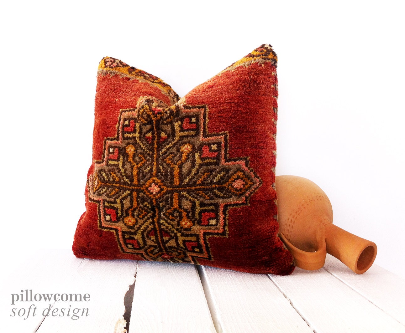 Rustic Home Decor Bohemian Pillow Case Vintage by pillowcome