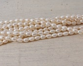 AA White Rice Pearls - 16 inch strand - 4-4.5 mm