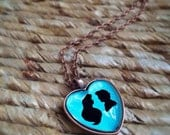 Custom Pendant Silhouette Paper Cutting Necklace