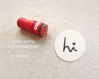 Mini Typo Rubber Stamp hi