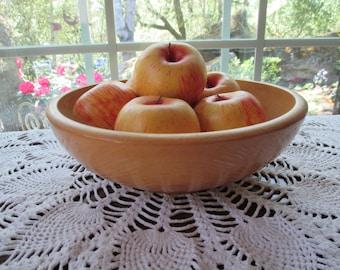Vintage Wood Dough Bowl - Fruit Bowl - Salad Bowl