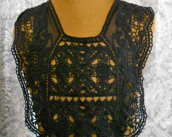 Black Crocheted Appliques