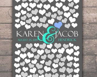 Interactive Art Print   108 Guest Sign In 16x20   BRIDAL GIFT POSTER   Memoir Wedding Engagement Gift Poster   Unique Wedding Guest Book_01