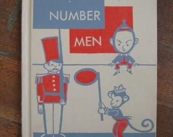Vintage Children's Book - Number Men - By Louise True, Illustrated By Katherine Evans (1962)