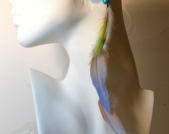 Assorted Parrot Feather Hair Extension