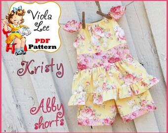 Kristy... Girl's Peasant Dress Pattern. Toddle Peasant Top Pattern. Girl's Peasant Top Pattern. Girl's pdf Sewing Pattern. Toddler Top