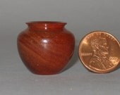 South African Red Ivory Wood Turned Miniature Vase