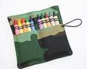 Crayon Rolls Party Favors, Camouflage, crayon holder holds 10 Crayons