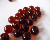Round beads, glass, chez, 10 mm, supplies, jewelry, pale, round, brown, coffee, amber, dark, jewelry supplies, glass, beads, pressed, 20 pcs