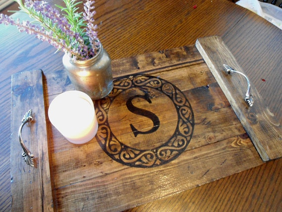 Items Similar To Coffee Table Tray Rustic Decorative Wooden Serving Tray Personalized Wedding