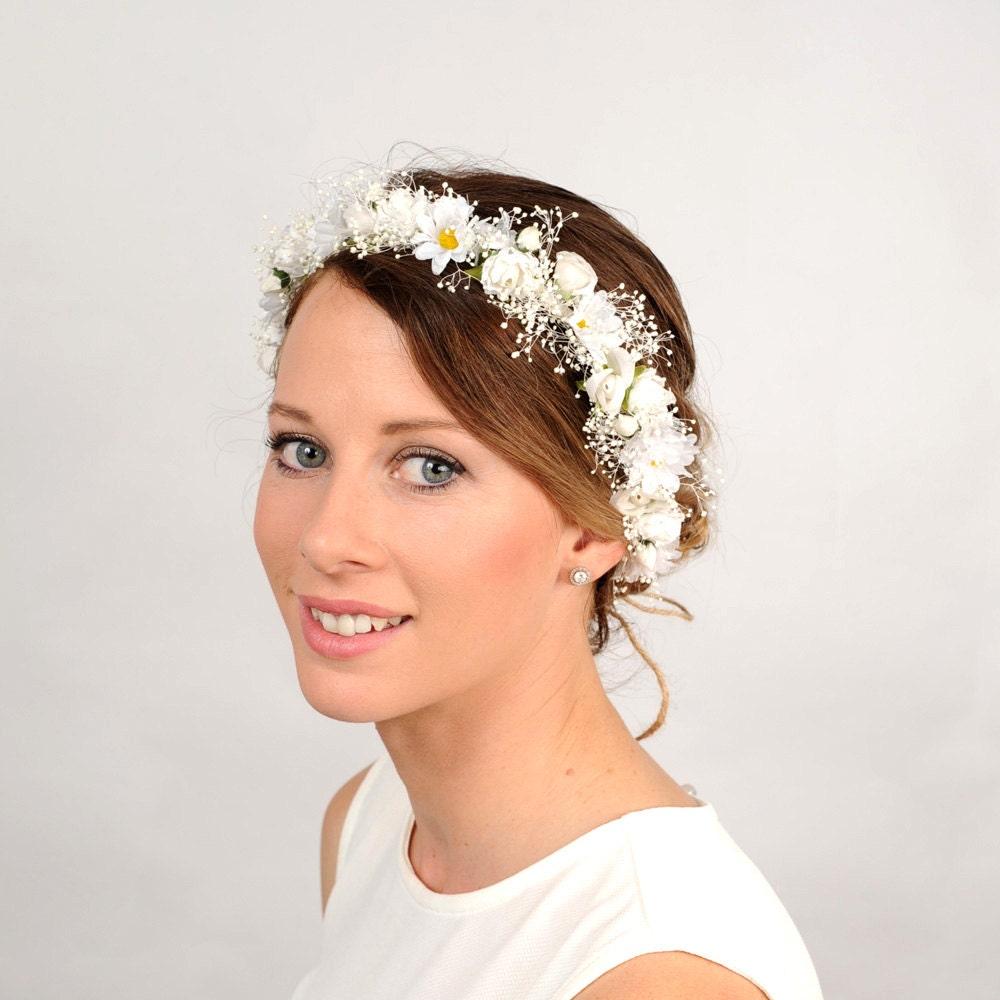 Wedding White Flower Crown: Daisy Flower Crown White Wedding Headband Bridal Floral Head