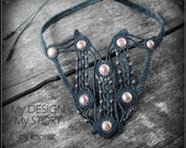 Natural Pearl Macrame necklace
