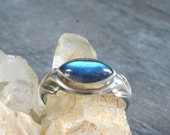Labradorite Ring, 925 Sterling Silver Ring Size 7, Statement Ring Silver, Blue Stone Ring, Sterling Silver Ring for Women, Ring With Stone