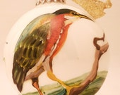 BEAUTIFUL Vintage Handpainted Bird Ornament
