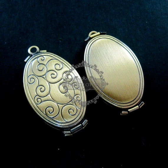 wholesale 5pcs vintage brass bronze locket pendant,photolocket,photo locket,oval locket 1121008
