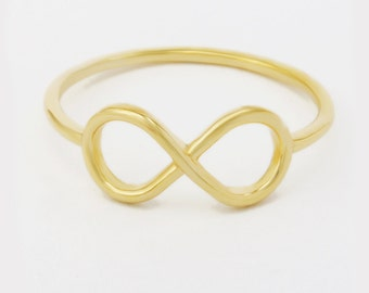 Solid 14K Gold Infinity Ring