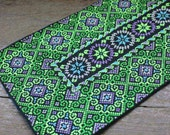 Vintage Miao Hmong folk art embroidered textile,Tribal Embroided Folk Art