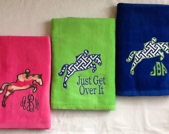 Jumping Horse Beach Towel