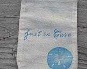 Set of 10 Beach Wedding Just In Case Destination Wedding Welcome Kit Muslin Drawstring Bags