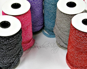 Swirl 5/8th inch elastic - 5 yards - You Choose Color