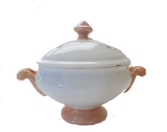 Lovely Hand Painted Sugar Bowl with a Lid,  Free Shipping