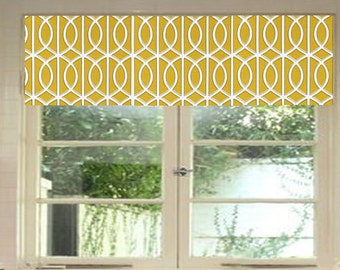 Robert Allen - Dwell Studio - Valance - Gate Citrine - Grey - Curtain - Window Treatment