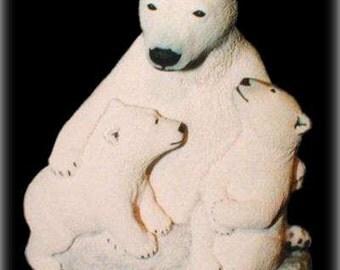 Polar Bear Hugs limited edition sculpture