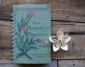New Elementary Grammar - Vintage Book Journal - Notebook - Sketchbook - Notepad