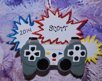 Personalized Video Gamer Christmas Ornament