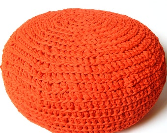 Crocheted, wide pouf - HUGE, comfortable floor pillow