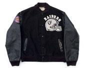 SALE-Vintage Raiders Varsity Jacket Sz S