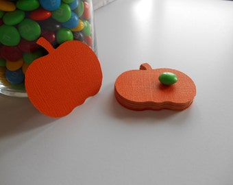 Pumpkins Cardstock (40) Die Cuts for Scrapbooking, Cupcake Toppers,Tags, 2 Inches