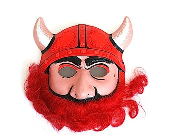 Viking Halloween Mask, Scary Viking Clown Mask, Disguise Made in Hong Kong, Adult Party Mask, Costume For DAD MOM, Clown Mask