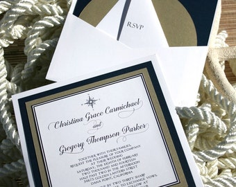 Nautical Wedding Invitations pocketcard