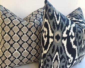 Premier Prints 20X20 Pillow Cover Home Decor Fabric-Black-White-Grey-Pillow-Living Room Pillow