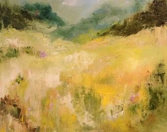 Alpine Dreams Landscape Original Oil Painting
