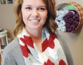 Merino Chevron Infinity Scarf Must have PATTERN ONLY