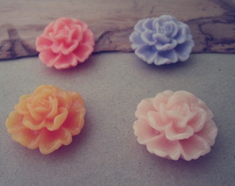 10pcs 22mm Mixed color  Resin Flowers