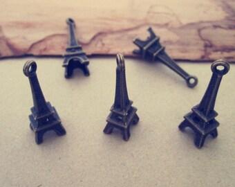 20pcs  Antique Bronze Eiffel Tower Charms 6mmx23mm