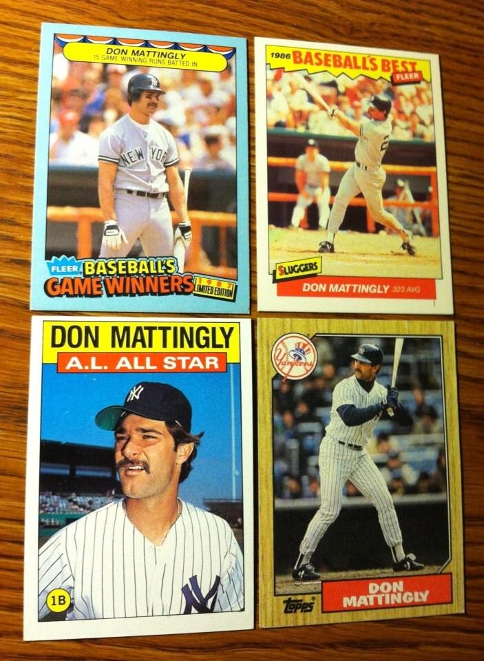 Don Mattingly 1986 Amp 1987 New York Yankees 4 Baseball By