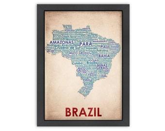 Brazil Word Map, 100% Original Design from Flatiron Design