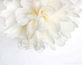 Vanilla Cream Tissue Paper Pom Poms- Wedding, Birthday, Bridal Shower, Baby Shower, Party Decorations, Garden Party