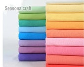 Plain Cotton Fabric, DIY Craft, Colorful Wrinkled Style, Pre washed Cotton fabric 1/2 yard (QT336)