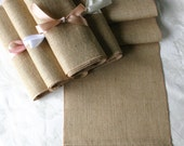 Plain Burlap table runners,  burlap wedding runners