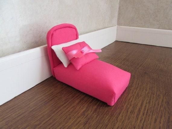Pincushion bed pink bedspread pillows ribbon by handmadebyhill