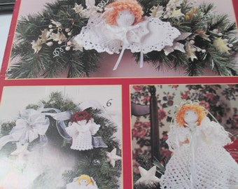 """Crochet pattern booklet """"sweet Christmas Angels""""  18 pages 7 projects used"""