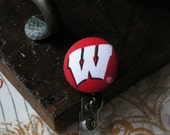 Retractable Badge Holder, Wisconsin ID Holder, ID Clip, College
