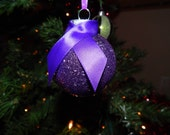 Pancreatic Cancer Awareness Ribbon Glass Ornament