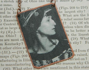 Anna Akhmatova necklace poetry jewelry mixed media jewelry