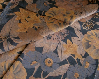 Printed cotton velveteen, 1 yard 24 inches long, tropical ptint